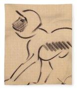 Crouching Monkey Fleece Blanket