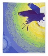 Crow, 1999 Gouache On Paper Fleece Blanket