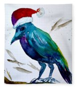 Crow Ho Ho Fleece Blanket