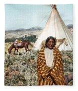 Crow Indian 1902 Fleece Blanket