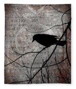 Crow Thoughts Collage Fleece Blanket