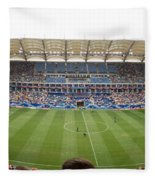 Crowd In A Stadium To Watch A Soccer Fleece Blanket
