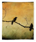 Crowded Branch Fleece Blanket
