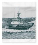 Crowley Tugboat Ocean Going Gladiator Fleece Blanket