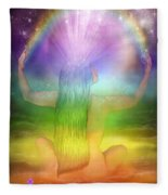 Crown Chakra Goddess Fleece Blanket