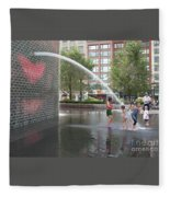 Crown Fountain Play Fleece Blanket