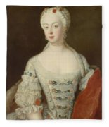 Crown Princess Elisabeth Christine Von Preussen, C.1735 Oil On Canvas Fleece Blanket