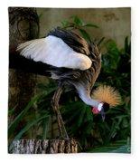 Crowned Crane Fleece Blanket