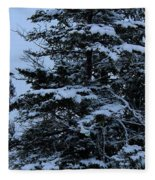 Crows Perch - Snowstorm - Snow - Tree Fleece Blanket
