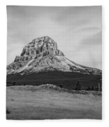 Crowsnest Mountain Black And White Fleece Blanket