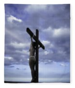 Crucifix In The Light Fleece Blanket