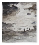 Crucifixtion Fleece Blanket