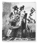 Cruikshank: Headache, 1819 Fleece Blanket