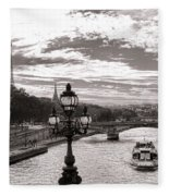 Cruise On The Seine Fleece Blanket