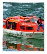 Cruise Ship Tender Boat  Fleece Blanket