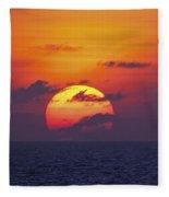 Cruise Sunset Fleece Blanket