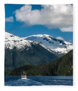 Cruising Alaska Fleece Blanket