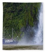 Cruising By A Waterfall Fleece Blanket