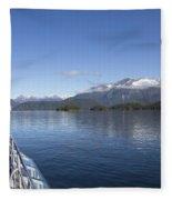 Cruising Inn Doubtful Sound South Island New Zealand Fleece Blanket