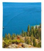 Cruising Jenny Lake Fleece Blanket