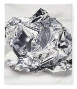 Crumpled Aluminum Foil Fleece Blanket