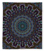 Crushed Blue Velvet Kaleidoscope Fleece Blanket