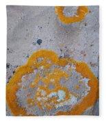 Crustose Lichen, Utah Fleece Blanket