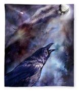 Cry Of The Raven Fleece Blanket