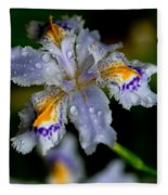 Crying Fringed Iris-iris Japonica Fleece Blanket