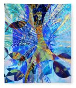 Crystal Blue Persuasion Fleece Blanket