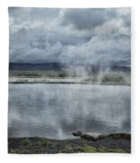 Crystal Crane Hot Springs Fleece Blanket
