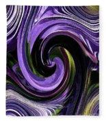 Crystal Fountain Twirls Fleece Blanket