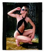Crystal Slingsuit Fleece Blanket