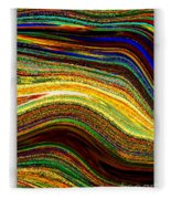 Crystal Waves Abstract 2 Fleece Blanket