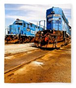 Csx Railroad Fleece Blanket