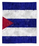 Cuba Flag Fleece Blanket