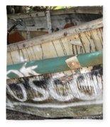 Cuban Refugees Boat 2 Fleece Blanket