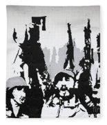 Cuban Revolution Painted On A Wall Fleece Blanket