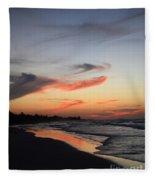Cuban Sunset Fleece Blanket