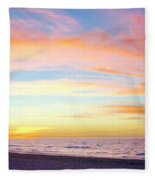 Cuban Sunset Fleece Blanket