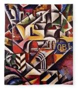 Cubist Cityscape, 1914 Fleece Blanket