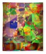 Flowers In Round Bowls - Outdoor Markets Of New York City Fleece Blanket