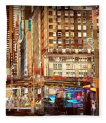 Grand Central And 42nd St Fleece Blanket