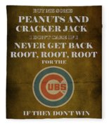 Cubs Peanuts And Cracker Jack  Fleece Blanket