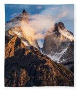 Cuernos Del Paine At Sunrise Fleece Blanket