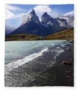 Cuernos Del Paine Patagonia 3 Fleece Blanket