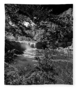 Cumberland Falls Black And White Fleece Blanket