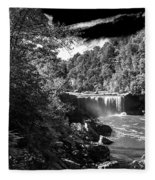Cumberland Falls Seven Bw Fleece Blanket