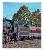 Cumberland Maryland Train Station Fleece Blanket