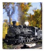 Cumbres And Toltec Railroad Fleece Blanket